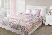 Přehoz na postel 170x210 EVA 03 -  růžová/krém