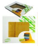2dílná sada ručníků ANKARA v dárkové krabici  - žlutá