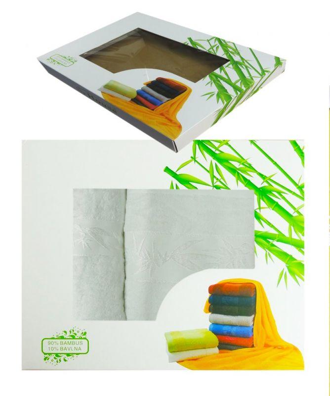 2dílná sada ručníků HANOI v dárkové krabici - bílá