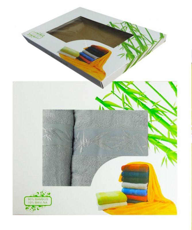 2dílná sada ručníků HANOI v dárkové krabici - sv. šedá
