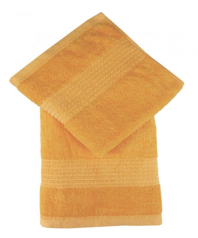 Bamboo osuška PARIS 70x140 - žlutá