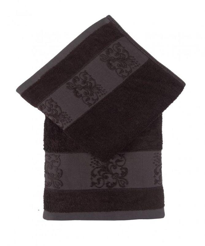 Bamboo ručník ANKARA 50x100 - tm. hnědá