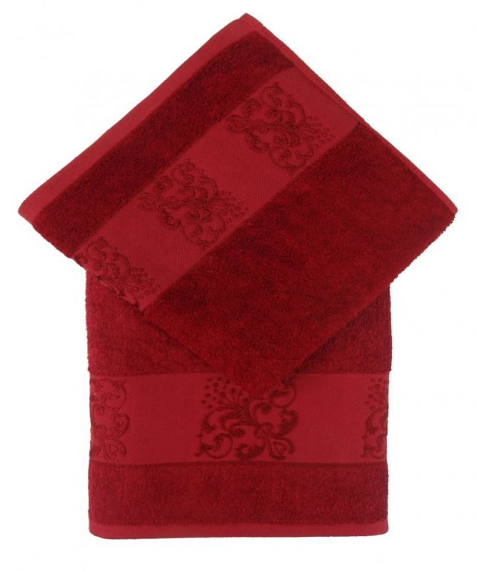 Bamboo ručník ANKARA 50x100 - vínová