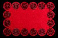 Filcové prostírání Blossom - červený 30x45