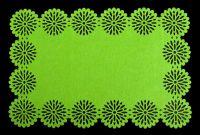 Filcové prostírání Blossom - zelený 30x45