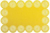 Filcové prostírání BLOSSOM - žlutá 30x120