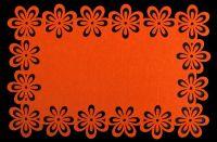 Filcové prostírání Floral - pomeranč 30x45