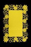 Filcové prostírání VIVIAN -žlutá 30x120