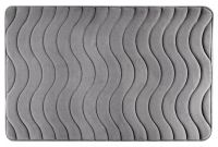 Koupelnová předložka/kobereček 60x90 - WAVE stříbrný