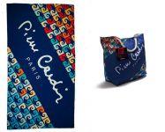 Plážová rychleschnoucí osuška + plážová taška - PIERRE CARDIN     PARIS