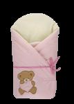 Zavinovačka STANDART - Medvídek srdíčko růžová