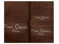 3 - dílná luxusní sada ručníků - PIERRE CARDIN - hnědá