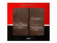3 - dílná luxusní sada ručníků v krabici - PIERRE CARDIN - hnědá