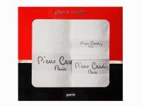 3 - dílná luxusní sada ručníků v krabici - PIERRE CARDIN - bílá