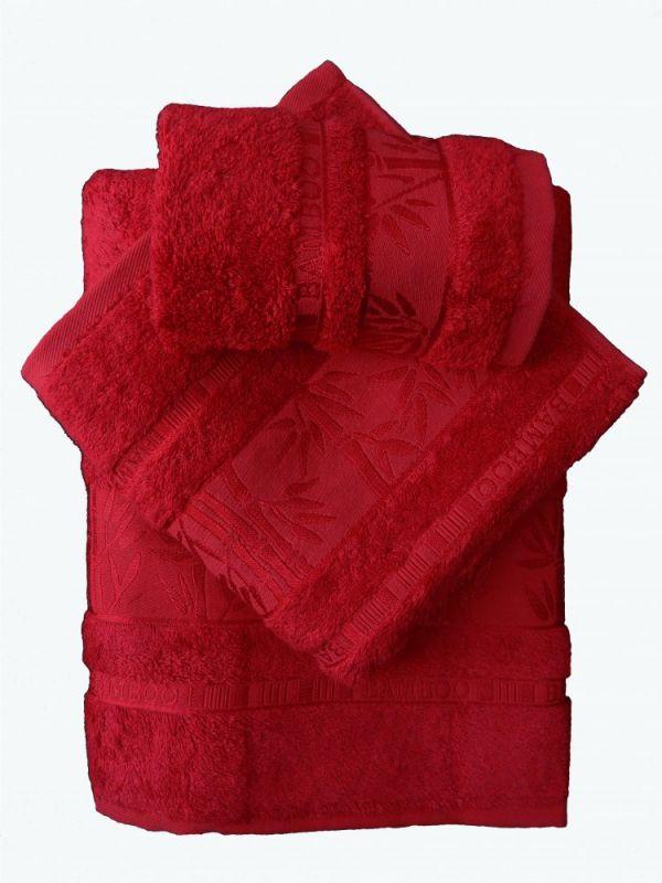 Bamboo ručník - 50x95 - červený