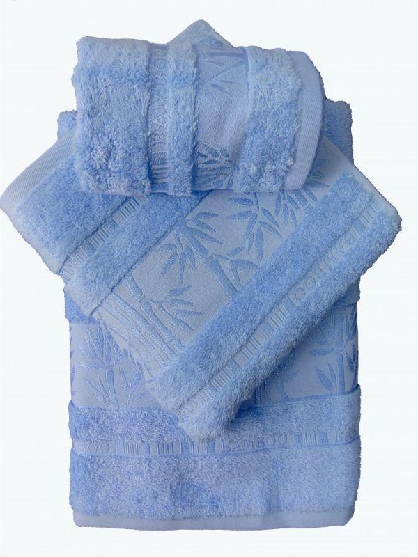 Bamboo ručník - 50x95 - modrý