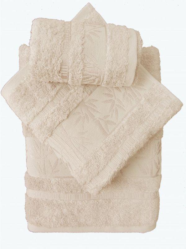 Bamboo ručník - 50x95 - smetanový