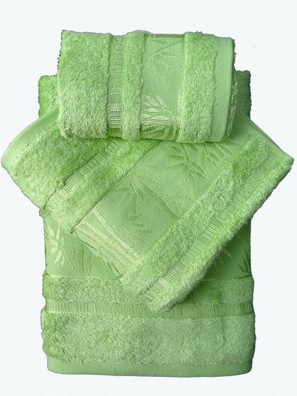 Bamboo ručník - 50x95 - zelený