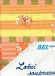 Dětské povlečení krepové bavlna -  45x65 +90x135  Medvídci na oranžové