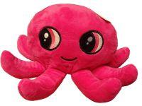 Plyšová chobotnice pokladnička - růžová