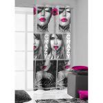 Závěs 140x250 - KISS 3 růžový