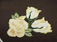 Dekorace na  ubrus č.01C5 Růže barva žlutá průměr 30cm