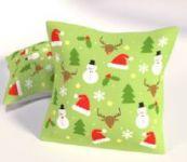 Dekorační polštářek  40x40 - Vánoční motiv sněhuláci