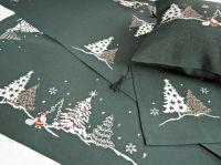 Vánoční ubrus č.14634 stromeček - grafitový 55x115