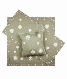 Vánoční ubrus č.15938 vločky - stříbrné 40x90